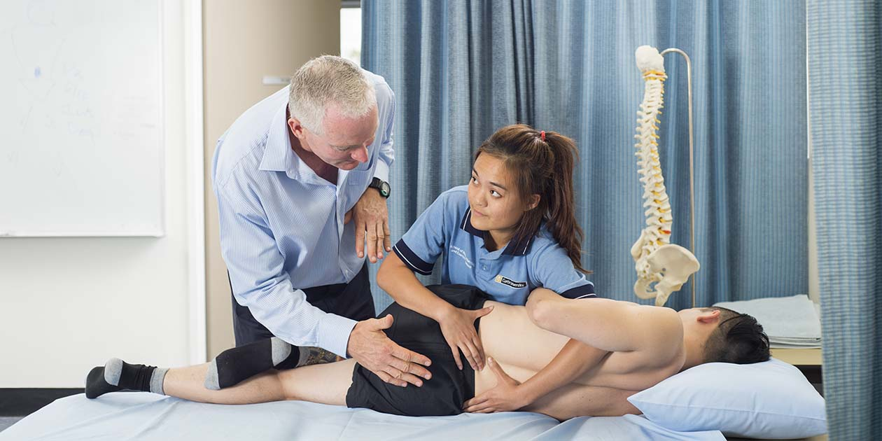 Physio student learning